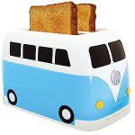 volkswagen busje broodrooster blauw